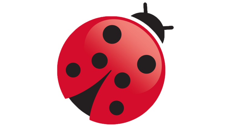 The red ladybird represents naturalness.
