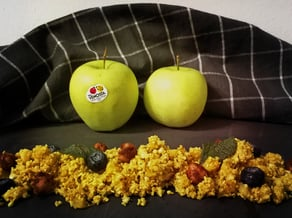 Couscous of cauliflower and<br>Golden Delicious apple