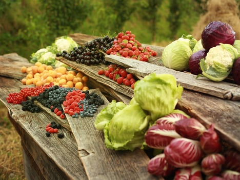 Fruit and vegetables from Val Venosta